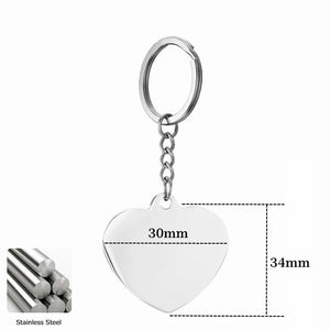 Stainless Steel Engraved Photo Key Chain