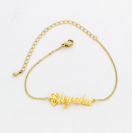 Buy Personalized Vertical Name Anklets From Joseod Jewelry