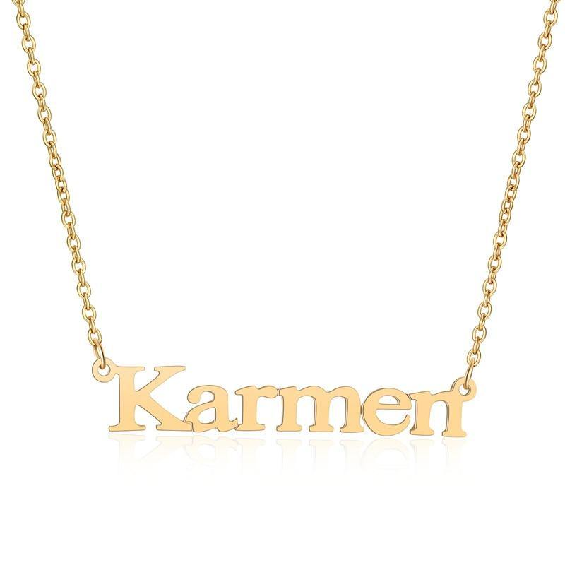 Buy Stainless Steel Unique Font Name Necklace From Joseod Jewelry