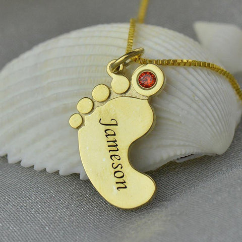 Shop Custom Birthstone Baby Feed Pendant From Joseod Jewelry