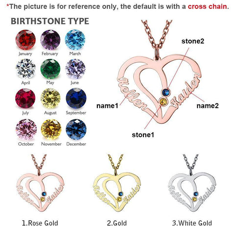 Image of Shop Custom Birthstone Heart Pendant From Joseod Jewelry