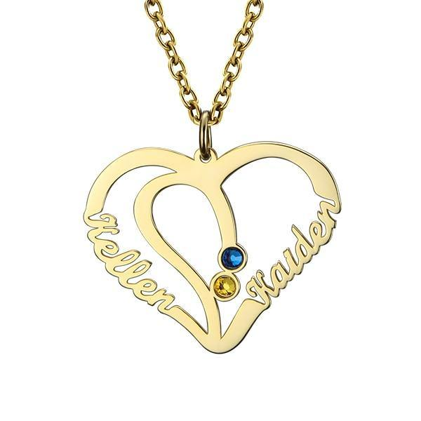 Shop Custom Birthstone Heart Pendant From Joseod Jewelry