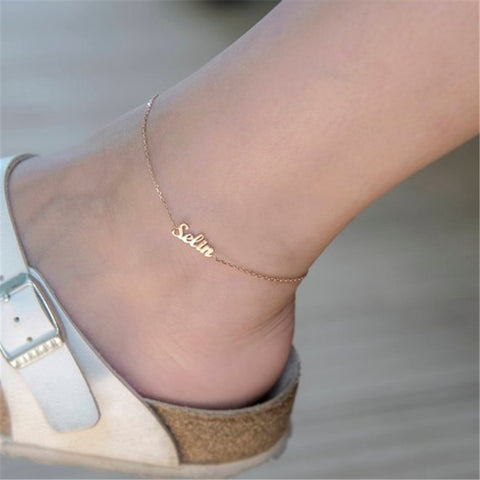 Shop Personalized Name Anklet From Joseod Jewelry