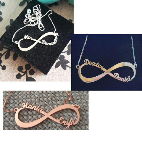 Image of Shop Custom Best Friend Infinity Necklace From Joseod Jewelry