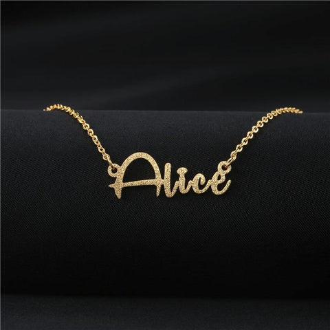 Buy Designer Style Font Custom Name Plate Necklace From Joseod Jewelry
