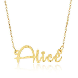 Designer Style Font Custom Name Plate Necklace