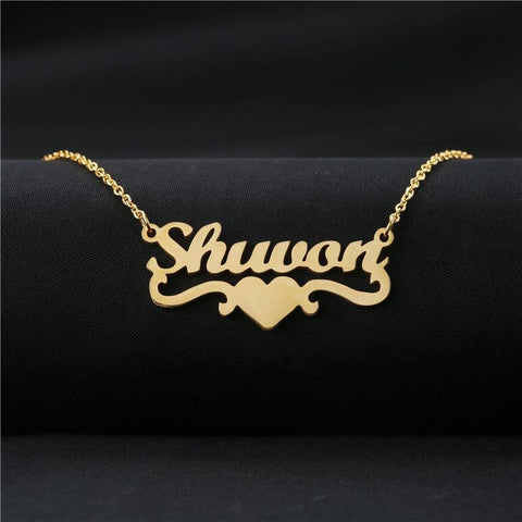 Buy Designer Heart With Personalized Name Necklace From Joseod Jewelry