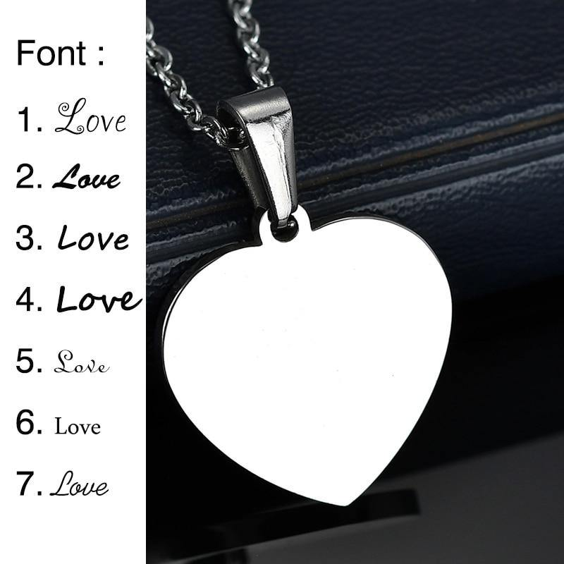 Buy Family Pendant Heart Engraved Necklace From Joseod Jewelry