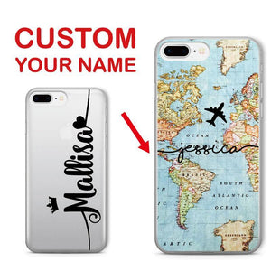 Personalized Name On Worldmap Case
