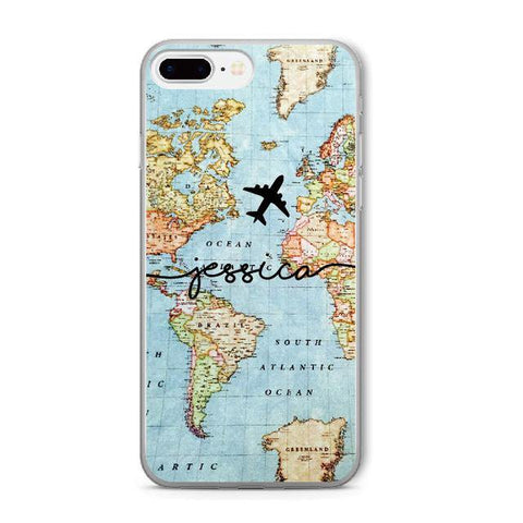 Buy Personalized Name On Worldmap Case From Joseod Jewelry