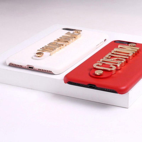 Gold Plated DIY Name Phone Case