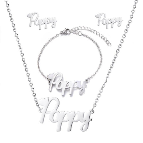 Image of Custom Poppy Style Stainless Jewelry Set