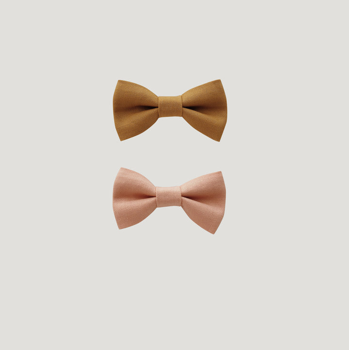 Fall Solid Color Bow Set - Amber/Petal