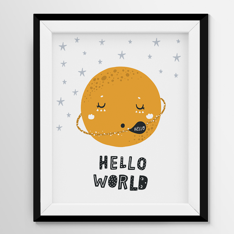 Digital Print Wall Art  - Hello World