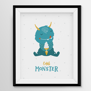 Digital Print Wall Art - Little Monster