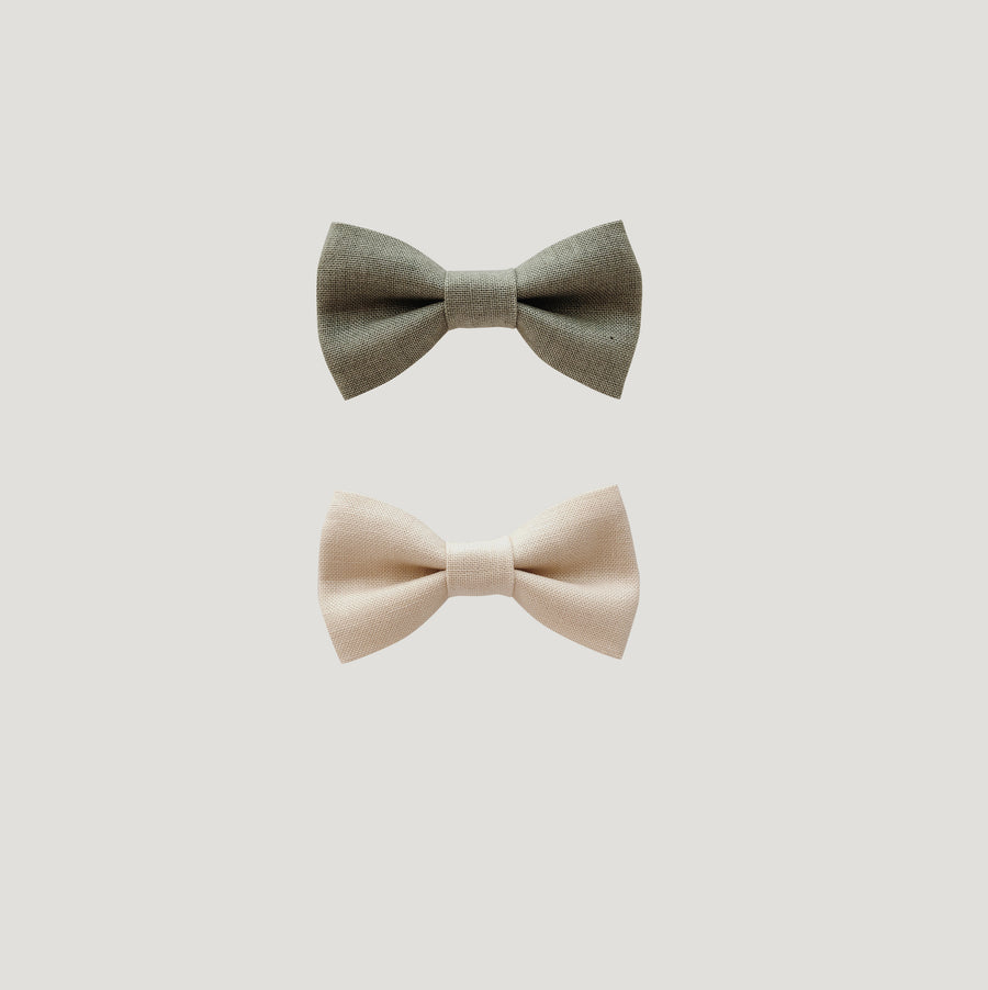 Fall Solid Color Bow Set - Sea/Magnolia