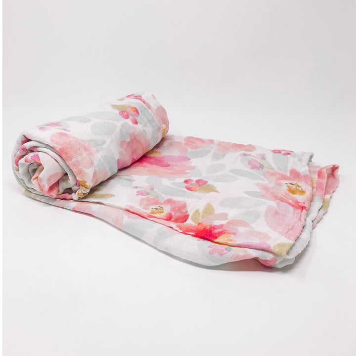 Deluxe Muslin Swaddle - Pink Peony