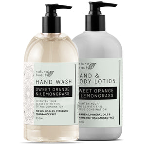 Sweet Orange Hand Wash & Lotion Set