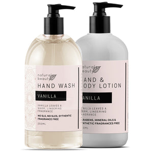 Vanilla Hand Wash & Lotion Set