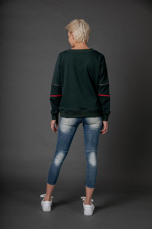 Love Lily the Label Snob Sweater - Washed Black