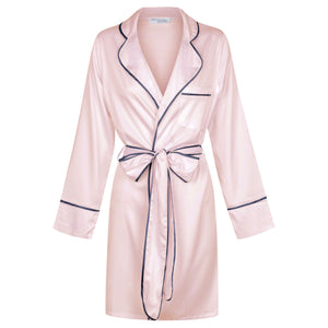 Luxe Signature Personalised Robe - Pink/Navy