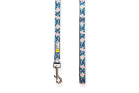 Silicone leash 4' - Autumn flowers - BeOneBreed