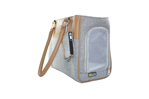 Pet carrier - light gray & beige - BeOneBreed