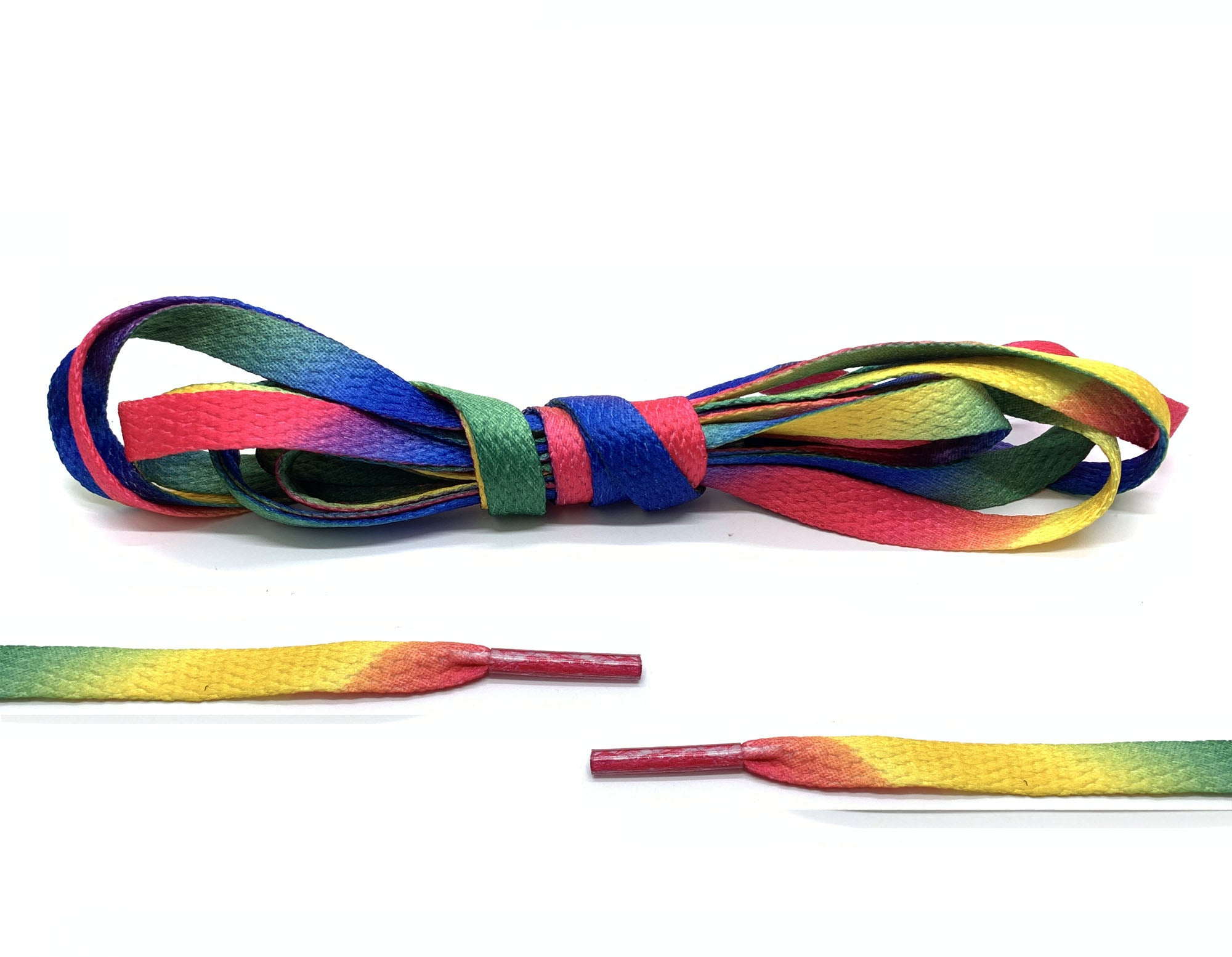 Canvas Rainbow Flat Laces - Belaced