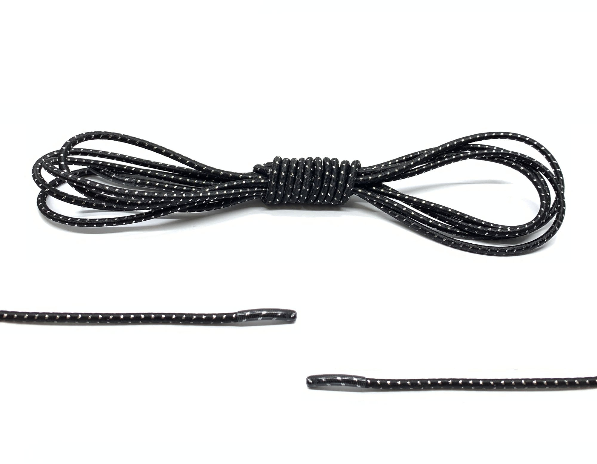 Black / Silver Elastic Laces - Belaced