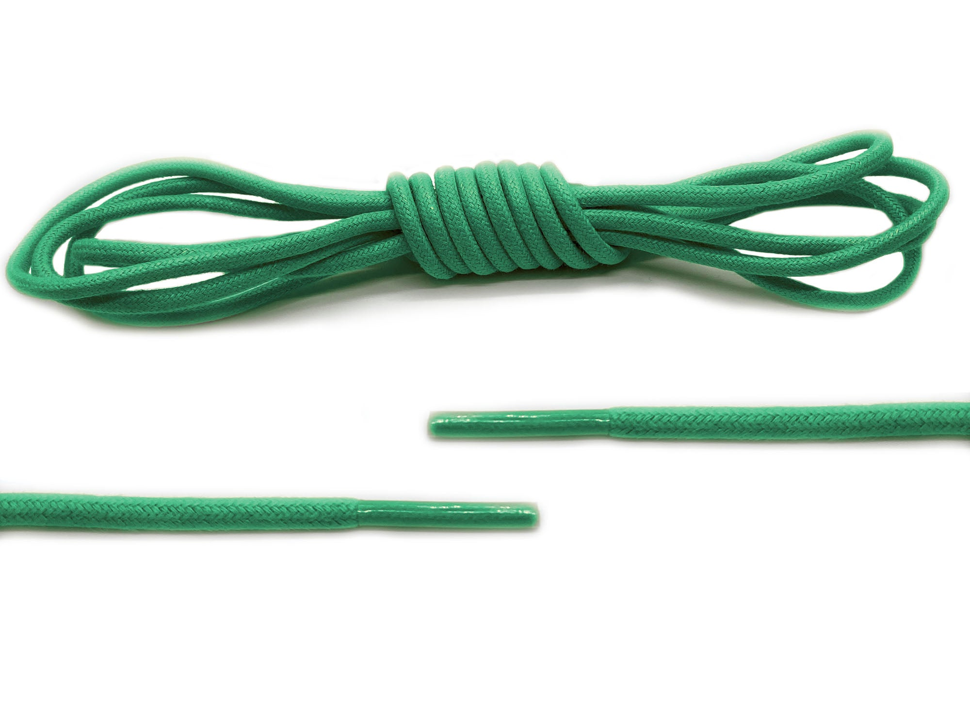 Green Round Waxed Laces - Belaced