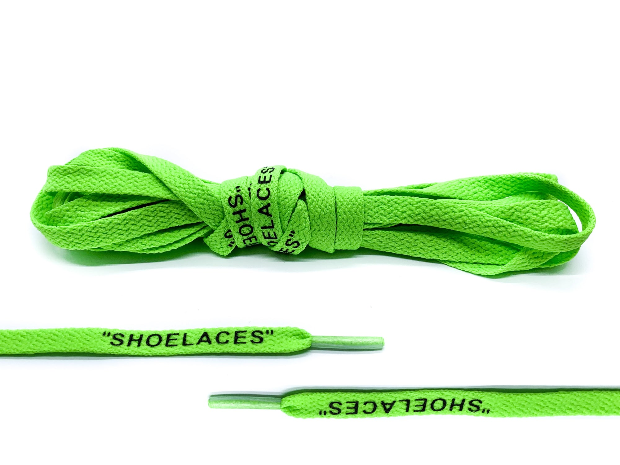 "Neon Green Off-White ""SHOE LACES"" Laces - Belaced"
