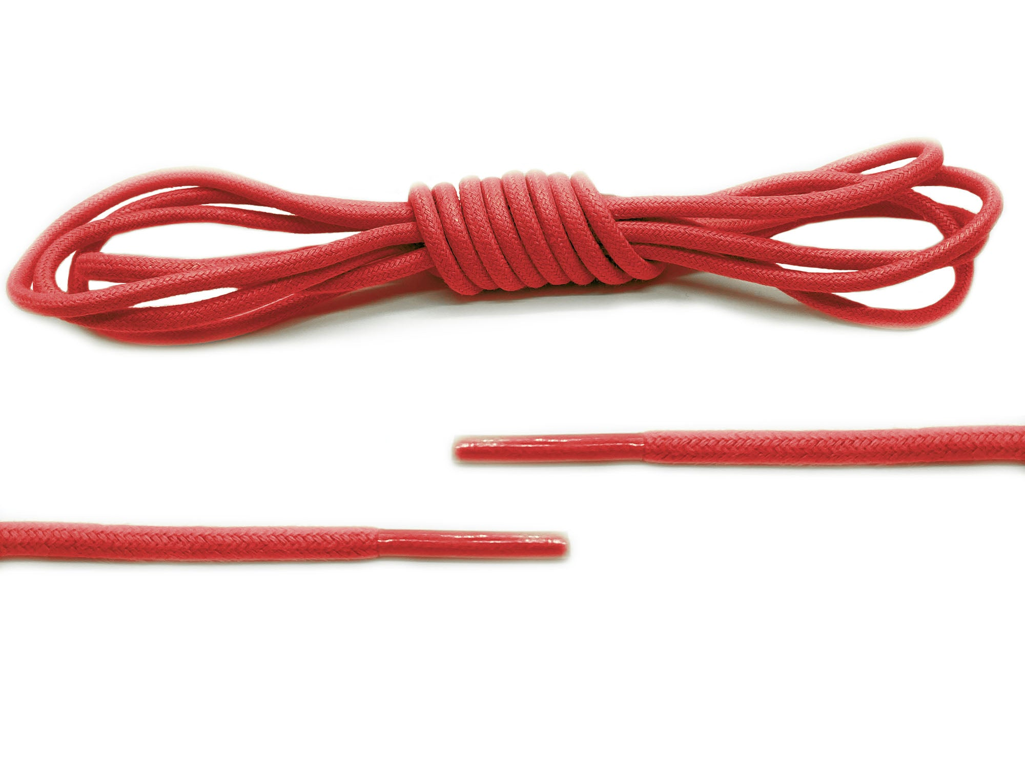 Red Round Waxed Laces - Belaced