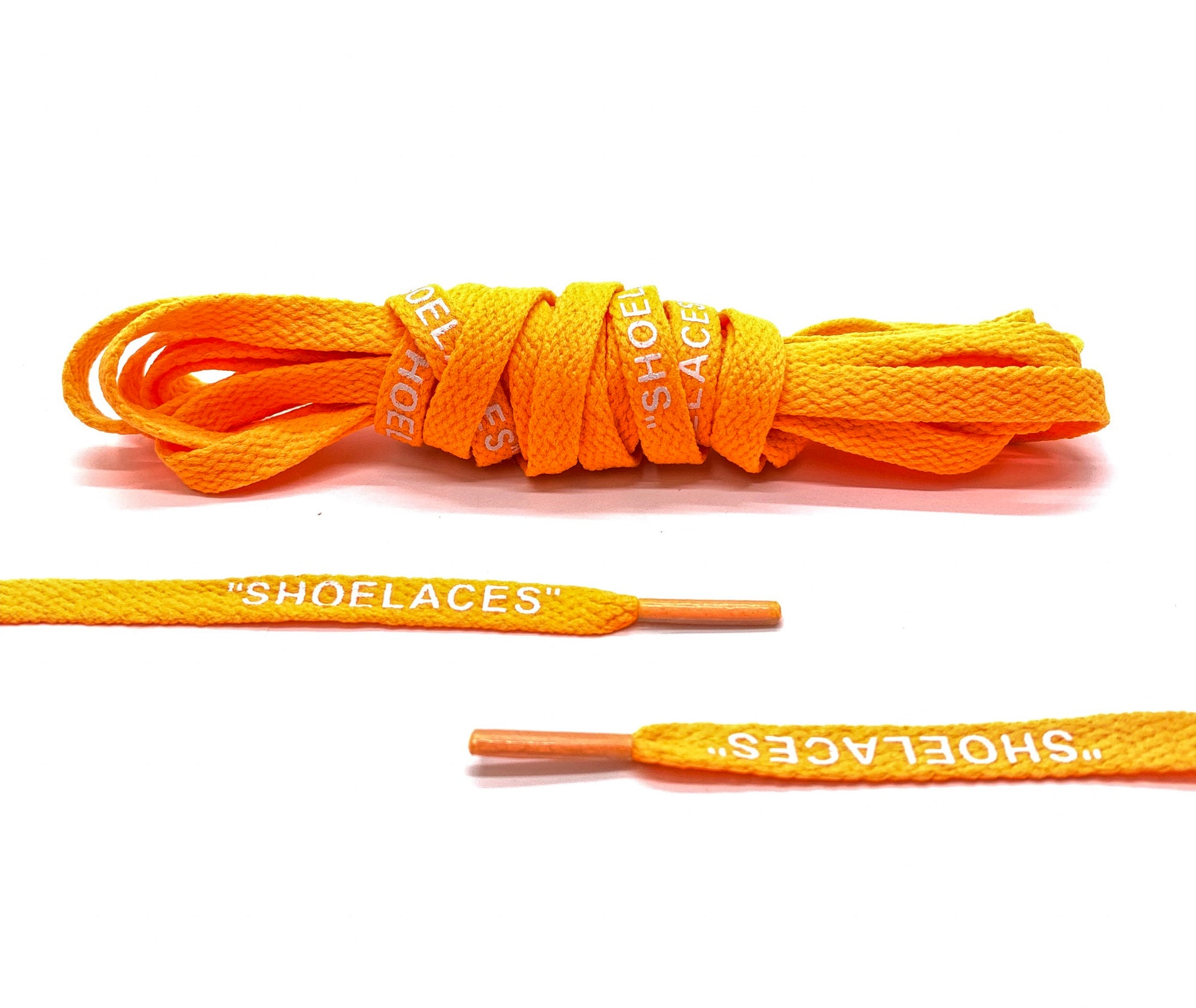 "Neon Orange Off-White ""SHOE LACES"" Laces - Belaced"
