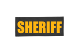 Sheriff Nylon ID Placard Black with Gold Letters