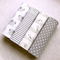 4PCS/PACK 100% Cotton Supersoft  76*76CM Baby Blankets