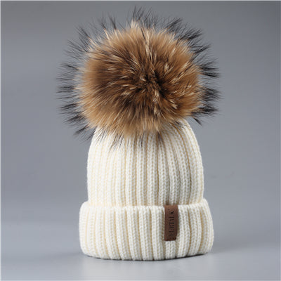 Winter Pompom hat for Kids Ages 2-7