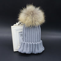 Children Winter Pompom Fur Hats