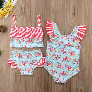Baby Girl Swimsuit kit - 2pieces or One-Piece