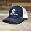 Big Frig Embroidered Trucker Hat Navy