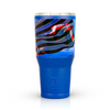 American Flag Bald Eagle Freedom Stainless Steel 30 oz Blue Tumbler