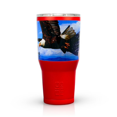 American Flag Bald Eagle Freedom Stainless Steel 30 oz Red Tumblers