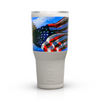 American Flag Bald Eagle Freedom Stainless Steel 30 oz White Tumbler