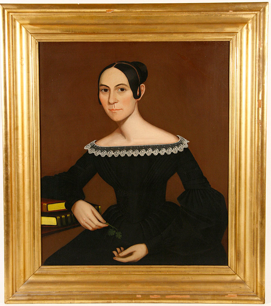 A Portrait of Ann Miller Tompkins (1813-1894) by Ammi Phillips