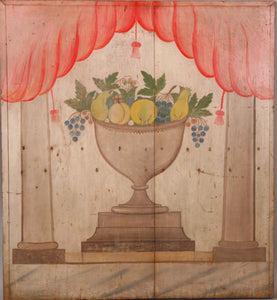 Painted on Poplar Fireboard from the Mary Jarvis Family Homestead