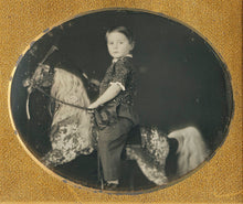 Load image into Gallery viewer, A double-cased pair of sixth plate daguerrotype portraits of a young brother and sister.