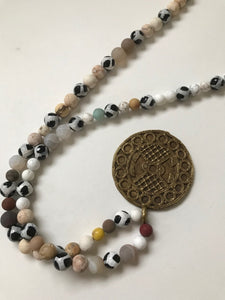 Long necklace with African trade beads - Very similar to 2209