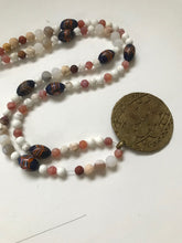 Load image into Gallery viewer, Combination of African trade beads and Venetian feather painted trade beads