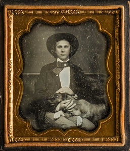 Sixth plate daguerreotype of a charming young man