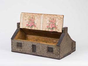 Document box in the form of a Pennsylvania style brick house.
