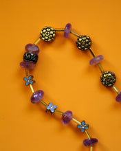 Load image into Gallery viewer, Amethyst and gold beaded necklace